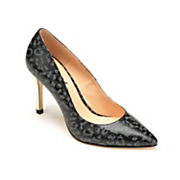 Dark Animal-Print Pump