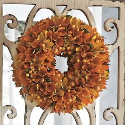 Autumn Wood Curl Wreath From Country Door Nw752733