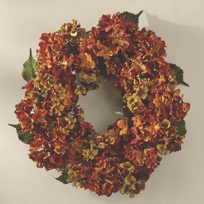 Autumn Hydrangea Wreath