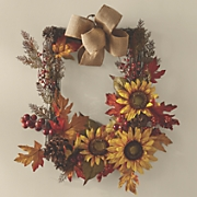 Rectangular Sunflower Wreath