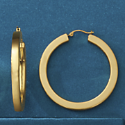14k gold nano diamond resin large hoops