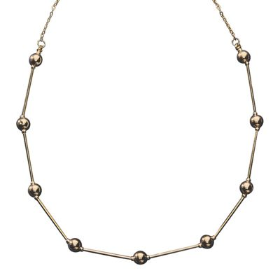 10K Gold Bead/Tube Necklace