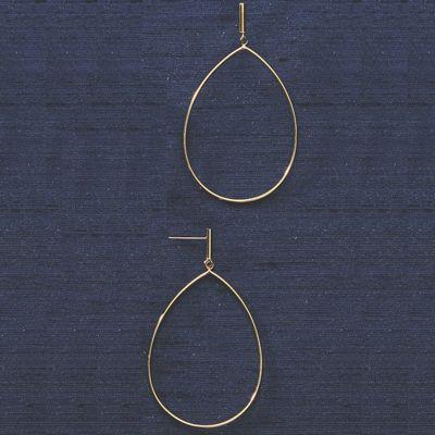 10K Gold Teardrop/Wire Post Earrings