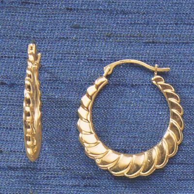 Gold Swirl Hoops