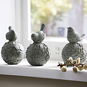 Set of 3 Topiary Birds