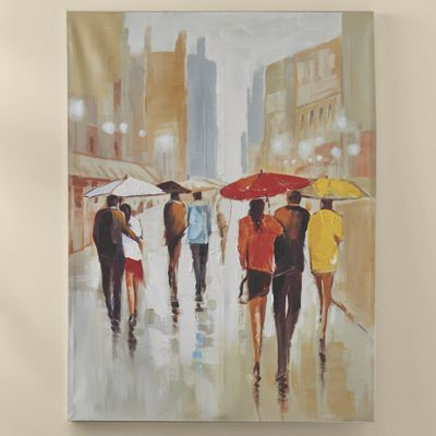 Umbrella People Canvas