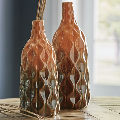 Set of 2 Ombré Vases