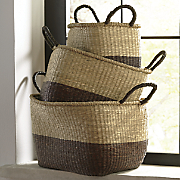 Set of 3 Two-Tone Baskets