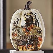 Halloween Haunted House Pumpkin