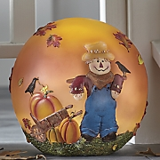 Autumn Scarecrow Lighted Globe