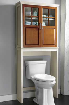 Two-Tone Bath Space Saver and Cabinet