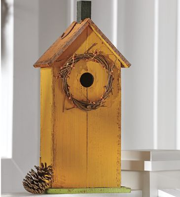 Birdhouse with Wreath