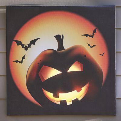 Lighted Pumpkin Canvas
