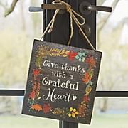 grateful heart plaque