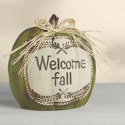 Welcome Fall Pumpkin