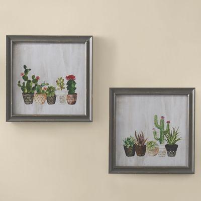 Set of 2 Cactus Wall Art