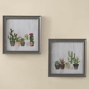 Set of 2 Cactus Wall Art
