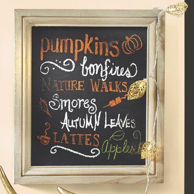 Autumn Word Art