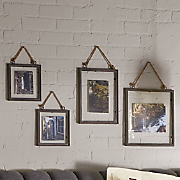 set of 4 rustic wall frames