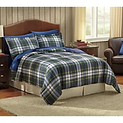 Plaid Down Alternative Comforter and Sham Set