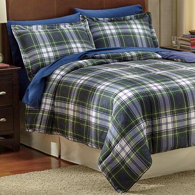 Plaid Down Alternative Comforter and Sham Set