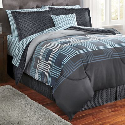 Jefferson Plaid Complete Bed Set, Accent Pillow and Window Treatments