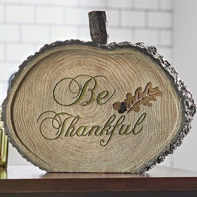 Be Thankful Wooden Pumpkin
