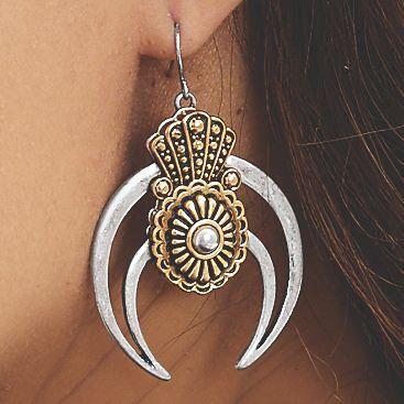 Two-Tone Southwest Earrings