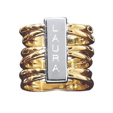 Two-Tone Name Ring