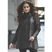 Leather Swing Coat