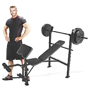 Standard Bench with 80-lb. Weight Set by Competitor
