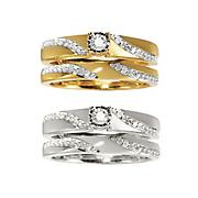Women's Swirl Diamond Bridal Set