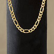 Figaro Necklace 4mm thick