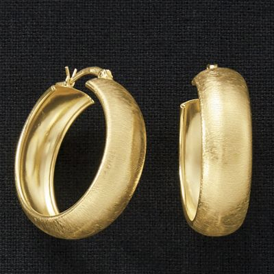 Satin Wide Hoops