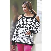 anjali cold shoulder sweater