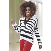 ember lace up sweater