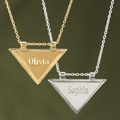 Name Triangle Pendant