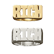name cutout block ring