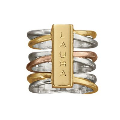 Name Tri-Color Ring