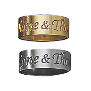 outside personalized message band