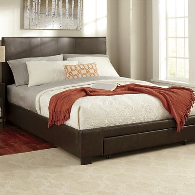 Queen Platform Bed with Drawer Storage