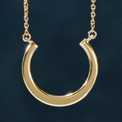 10K Gold U-Bar Necklace