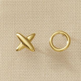 10K Gold X-O Earrings
