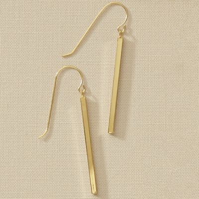 10K Gold Stick Earrings