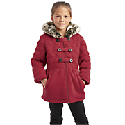 Girls' Heart Quilted Military Fleece Jacket by Limited Too