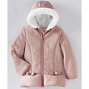 Girls' Woven Quilted Puffer