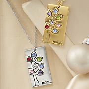 family birthstone pendant