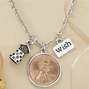 penny wish well pendant