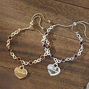 personalized name birthstone infinity bracelet