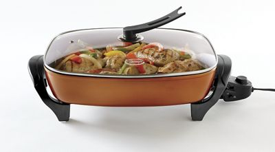 Copper Electric Skillet by Ginny&#39;s<sup class='mark'>&reg;</sup>